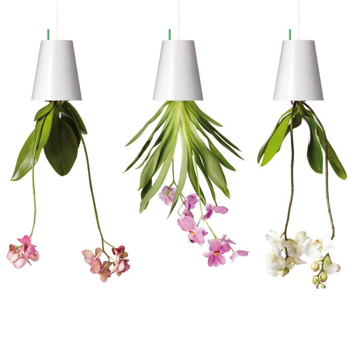 SKY PLANTER RECYCLED - 3 Fioriere Piccole Bianche
