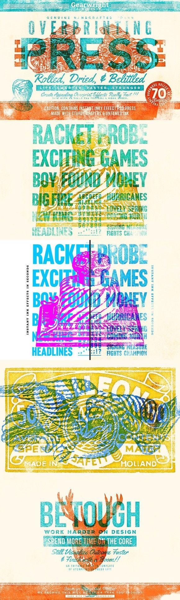 Overprinting Press Lite. Photoshop Layer Styles. $19.00