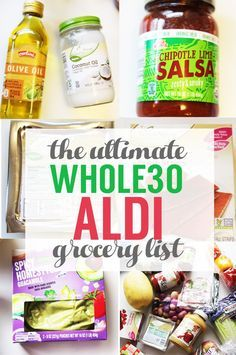 This is THE ULTIMATE whole30 Aldi shopping list. Shop for your Whole30 grocery list without spending a fortune!!