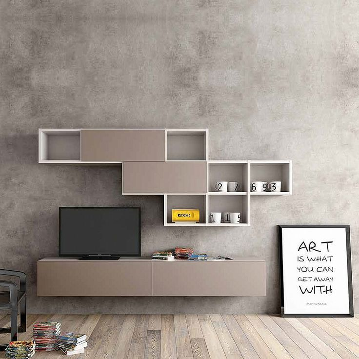 modern design tv media unit by morassutti
