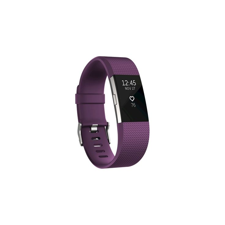 Fitbit Charge 2 Heart Rate + Fitness Wristband - Plum (Purple) (Large)
