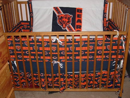 New Custom 6pc Nfl Chicago Bears Baby Nursery Crib Set Maybe