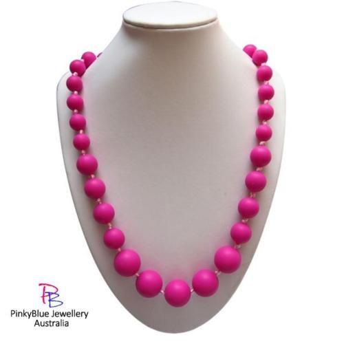 Price: $15.00 http://www.ebay.com.au/itm/PINK-Silicone-Necklace-Silicone-Pendant-Autism-Sensory-ASD-Sensory-Needs-/262230424246?ssPageName=STRK:MESE:IT