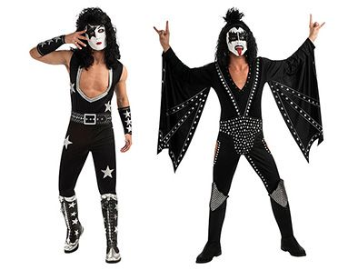 Deck yourself out in true glam rock style with your choice of 4 incredible KISS outfits: the Demon, the Spaceman, the Catman, or the Starchild!