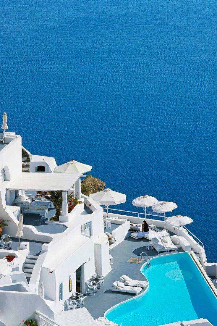 Resultado de imagem para pool Katikies, Santorini, Grécia