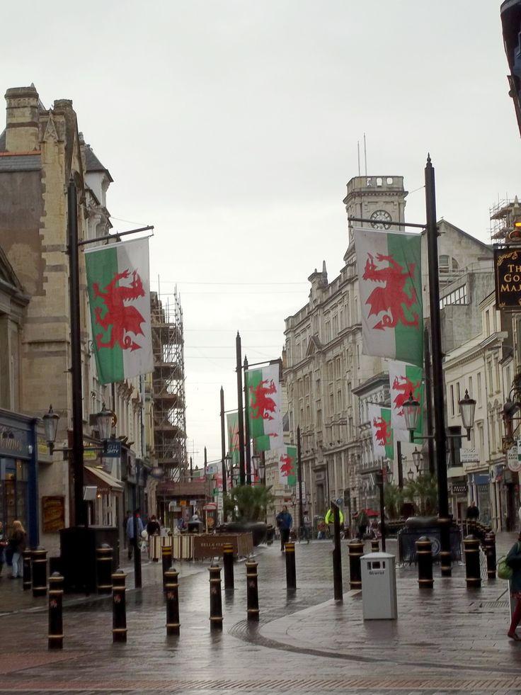 whereistarah:Cardiff, Wales.  Rainy day in the city.