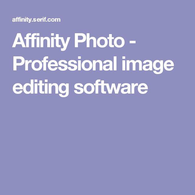 Affinity Photo - Professional image editing software