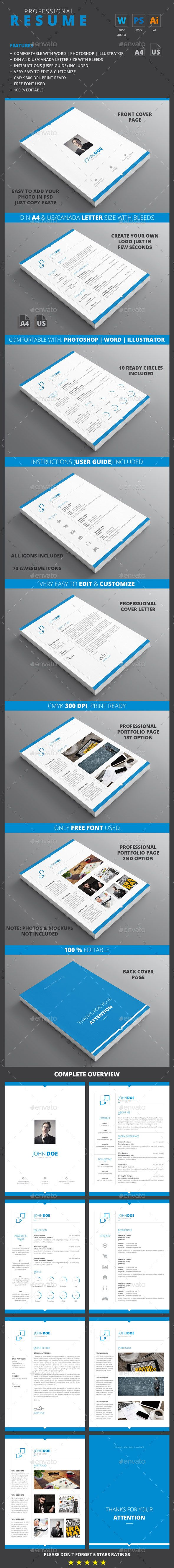 Buy CV by on GraphicRiver ResumeCV A