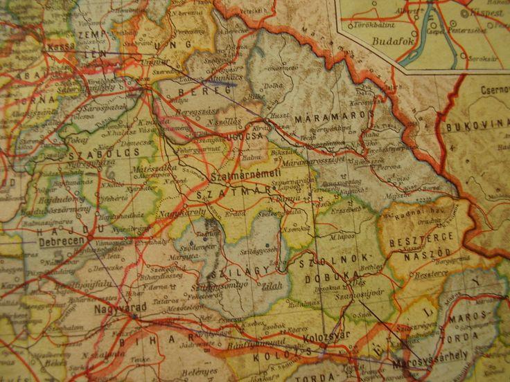 Horthy István emléktúra útvonal térképe. 1943 augusztus