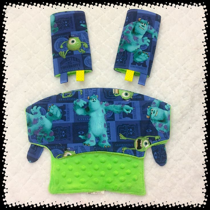 A personal favorite from my Etsy shop https://www.etsy.com/listing/509669241/monsters-inc-university-drool-pads-snd