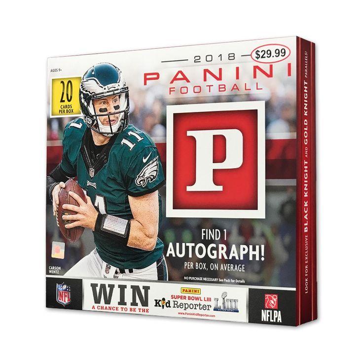 NFL 2018 Panini Football Trading Card Mega Box Football