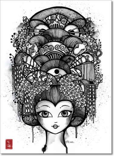 geisha inspiration - Nanami Cowdroy