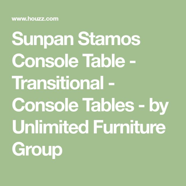 Sunpan Stamos Console Table - Transitional - Console Tables - by Unlimited Furniture Group