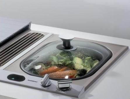 Gaggeneau in-counter steamer. I have veggies figured out - trying rice for the first time tonight!