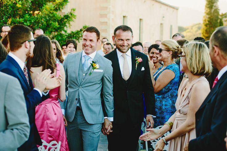 Magic in Monemvasia - Same sex / gay wedding in Greece photographed by Adonis Kekidakis.
