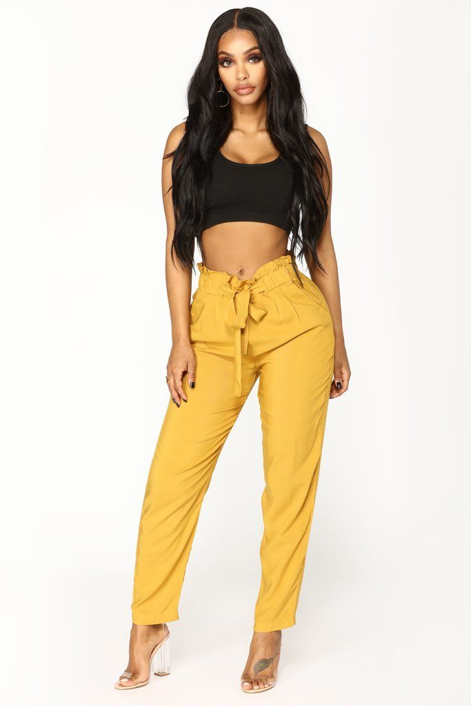 74107b5db499 Classic Paper Bag Waist Pants - Mustard in 2019