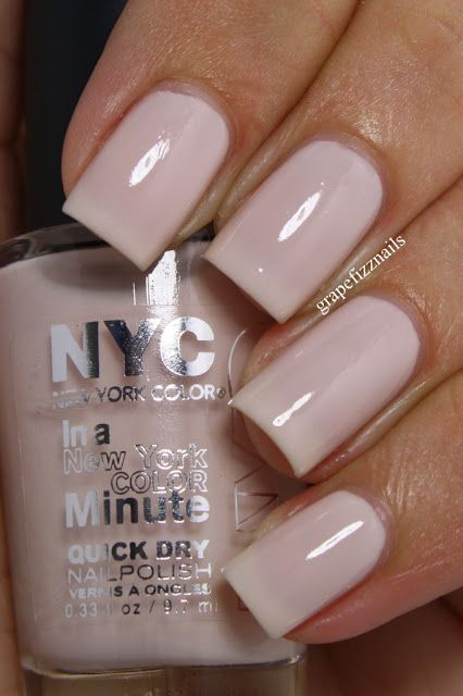Drugstore Dupe for Essie Ballet Slippers- Prospect Park Blossom by NYC