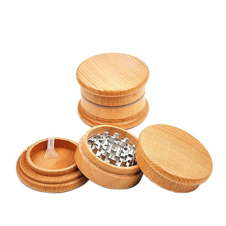 Hot Wooden Tobacco Spice Herb Herbal Grinder  Dia 63 mm 3 Piece  Crusher