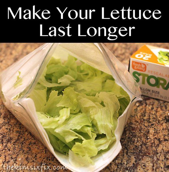 how to keep lettuce fresh in fridge