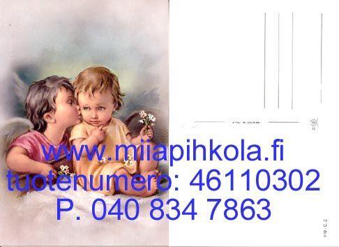 Enkeli suukottaa lasta