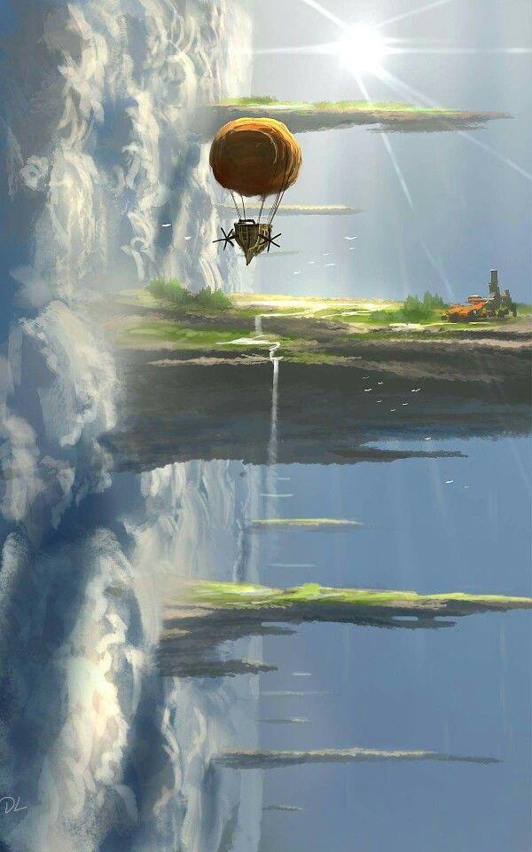 another world. strange gravity. dennis loebner spitpaint
