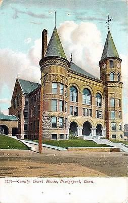 Bridgeport Connecticut CT 1905 Fairfield County Court House Vintage Postcard - Moodys Vintage Postcards - 1