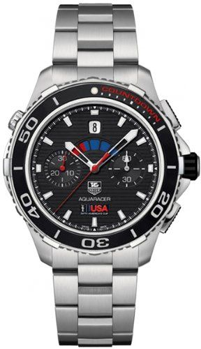 Tag Heuer Aquaracer Automatic Chronograph Black Dial Stainless Steel Mens Watch CAK211BBA0833 * Find out more about the great product at the image link. (This is an affiliate link and I receive a commission for the sales)