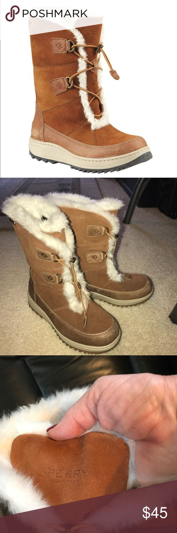 Sperry Winter Boots Sperry Top-Sider - Powder Valley Polar Ice Grip with Thinsulate Boot - Women's - worn just a couple of times. Like new! Super warm and cozy! Sperry Top-Sider Shoes Winter & Rain Boots