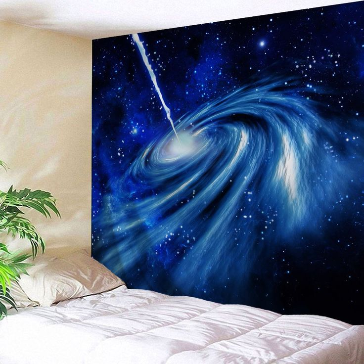 Starry Sky Wall Hanging Fabric Throw Tapestry - CERULEAN W59 INCH * L79 INCH
