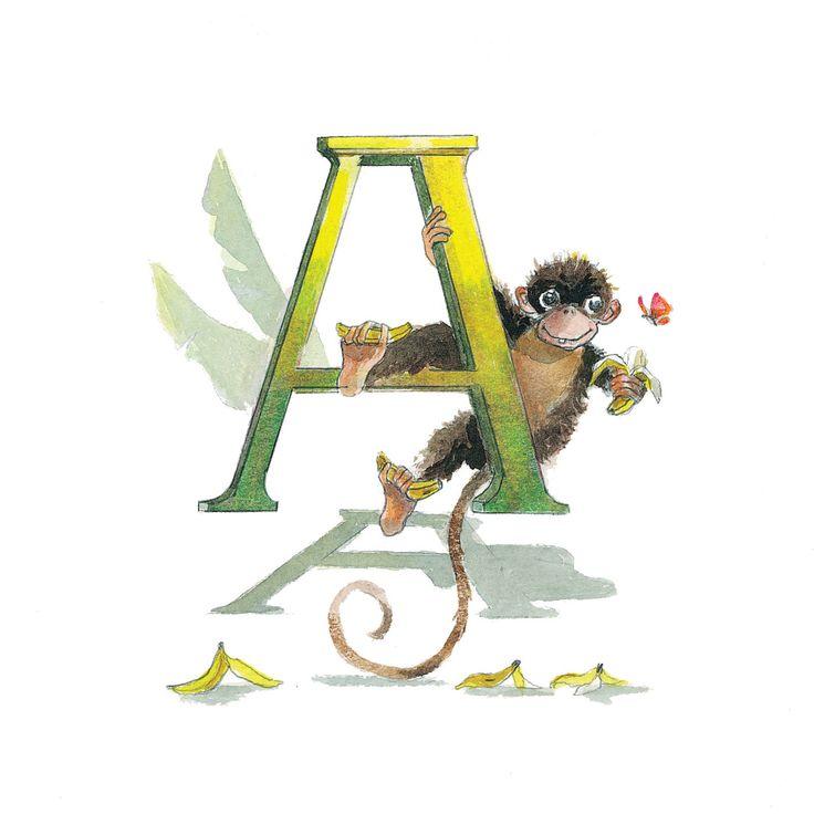 ABC alfabeto carte lettera un Apa Kort Nursery Decor alfabeto