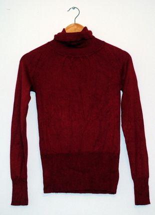 Kup mój przedmiot na #vintedpl http://www.vinted.pl/damska-odziez/swetry-z-golfem/8373234-bordowy-welniany-golf-mango-rozm-s
