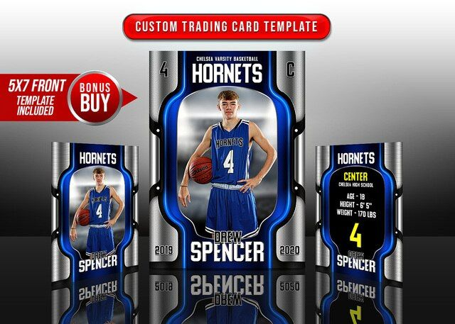 Sports Trading Cards And 5x7 Template Chrome Trading Cards Trading Card Template Cards