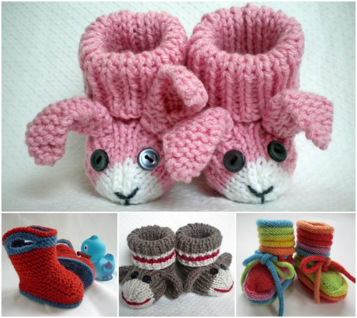 Knitted Baby Bootie Collection!