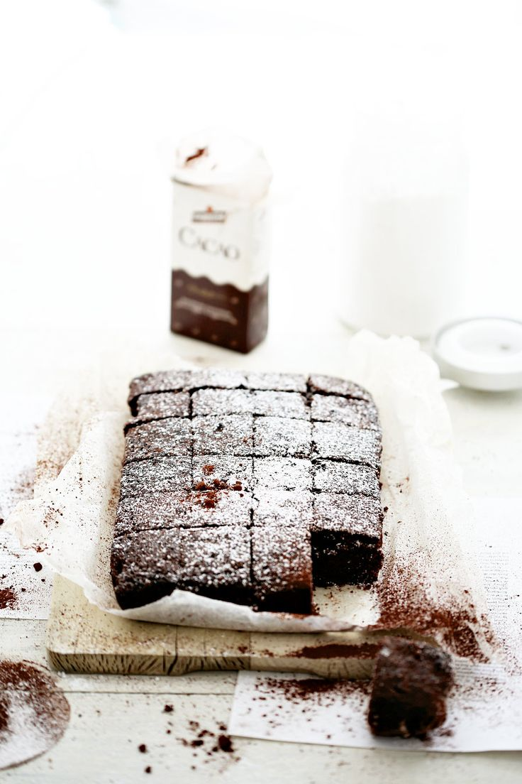 easy chocolate brownies//