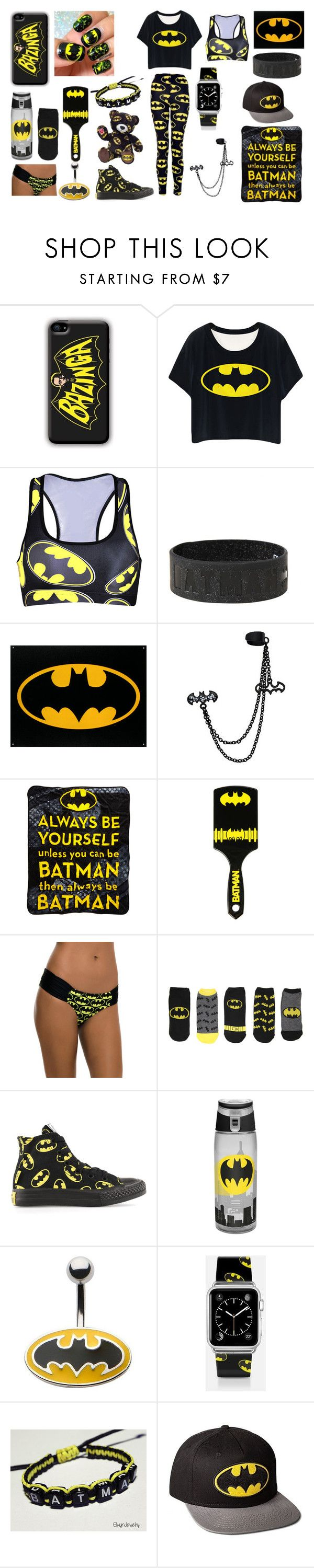 """""""Batman Style"""" by lunaofthemoon ❤ liked on Polyvore featuring Converse and Casetify"""