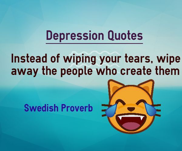 Instead of wiping your tears, wipe away the people who create them