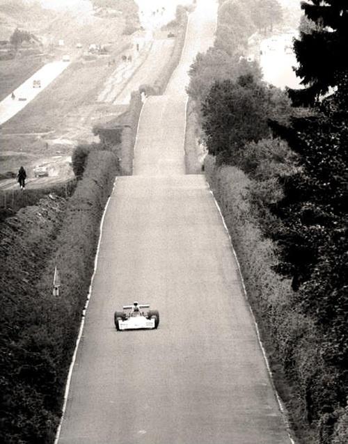Famous straights … Döttinger Höhe    Carlos Reutemann, Brabham-Ford BT42, 1973 German Grand Prix, Nürburgring