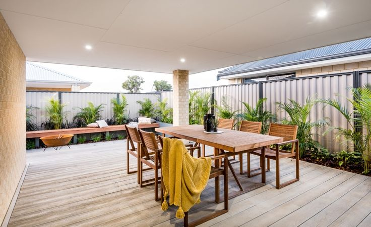 The large alfresco is perfect for year round entertaining