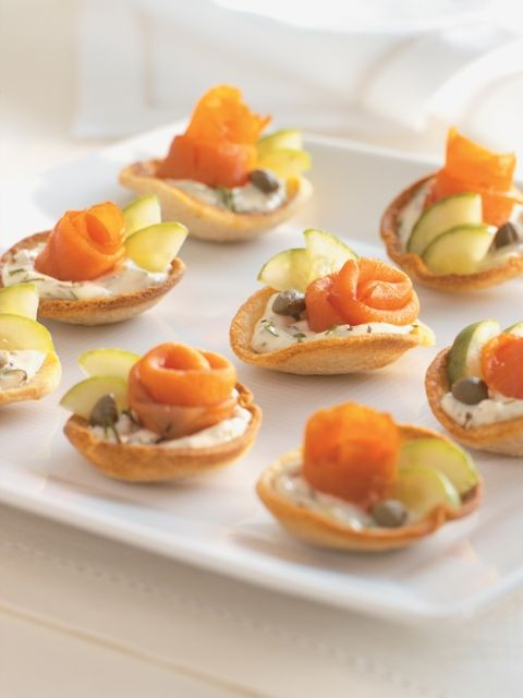 Salmon Capers Appetizer | These elegant bites look lovely as they are, but you can dress them up ...