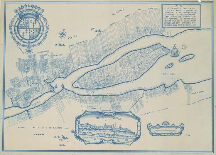 Carte de la ville de Québec en 1709