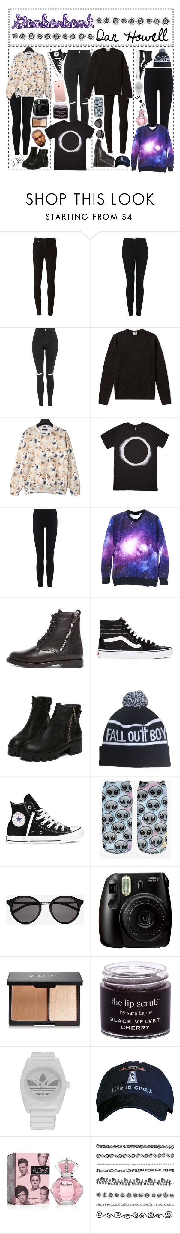"""genderbent - DAN HOWELL"" by angietbh ❤ liked on Polyvore featuring Paige Denim, Topshop, Acne Studios, James Perse, Yves Saint Laurent, Vans, Converse, adidas, women's clothing and women"