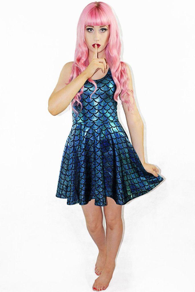 Traditional Little Mermaid Skater $75 AUD - Living Dead Clothing