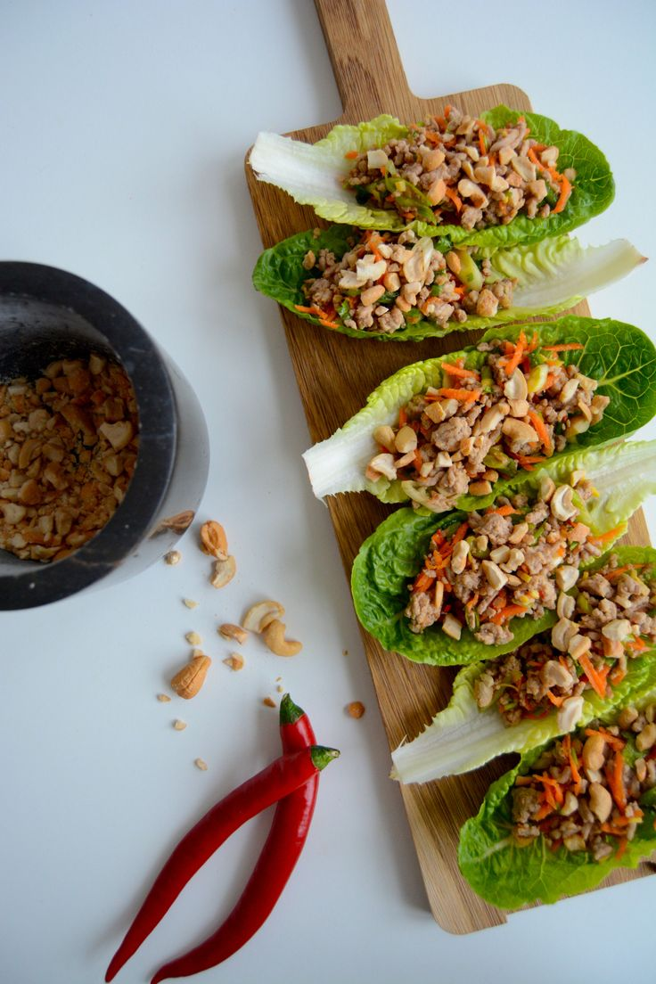 Min asiatisk inspirert svine taco I My asian inspired pork lettuce wraps!