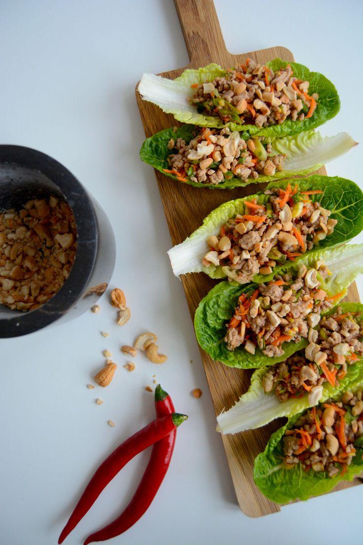 Min asiatisk inspirert svine taco I My asian inspired pork lettuce wraps!