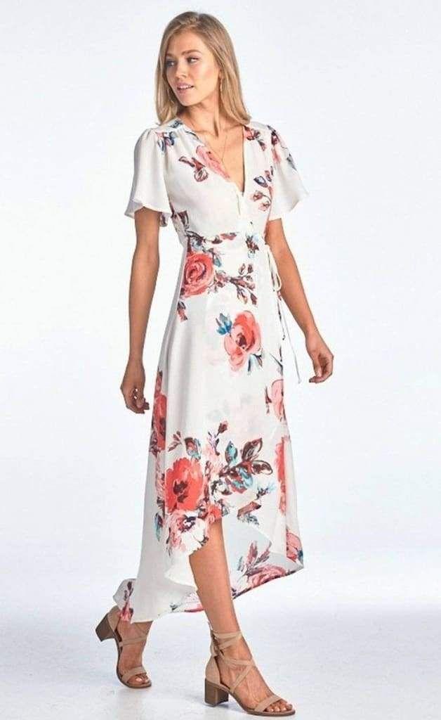 26+ White floral dress info