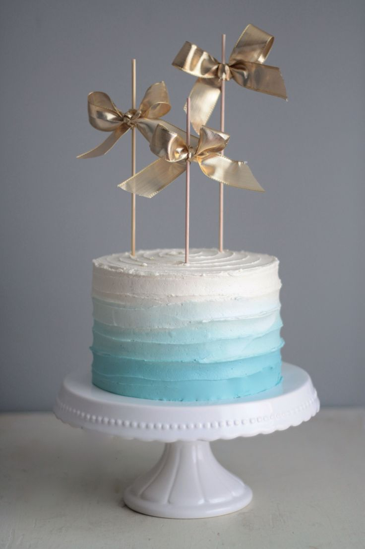 Ice Blue Ombre Cake