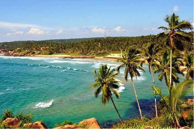 Kovalam Beach in Thiruvananthapuram, Kerala.