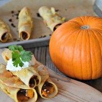Pumpkin & Chorizo Baked Taquitos