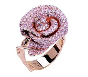 Dior Rose Ring.  Pink Diamond and Pink Gold.