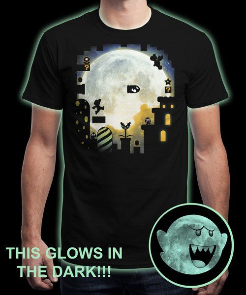 """Boo Moon"" is today's £8/€10/$12 tee for 24 hours only on www.Qwertee.com Pin this for a chance to win a FREE TEE this weekend. Follow us on pinterest.com/qwertee for a second! Thanks:)"
